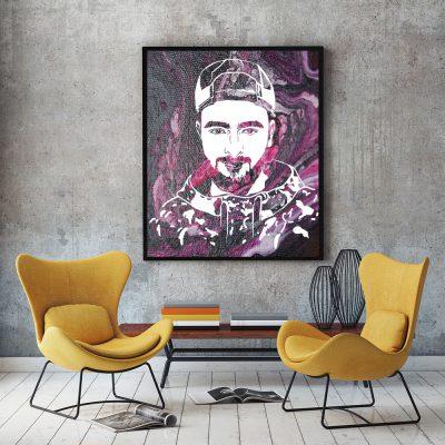 Поп арт портрет Криско