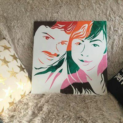 Романтичен подарък, подарък за сватба, подарък за годишнина, картина, подарък за Св. Валентин, подарък за рожден ден, творчество, рисунка, портрет, подарък, хоби, romantichen podaruk,