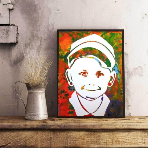 портрет на внуче
