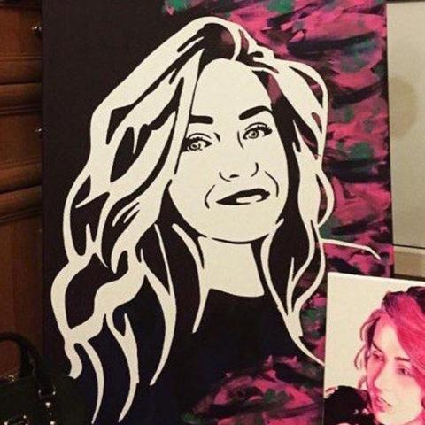 поп арт портрет
